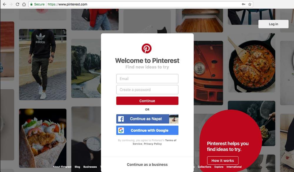 วิธีใช้ Pinterest1